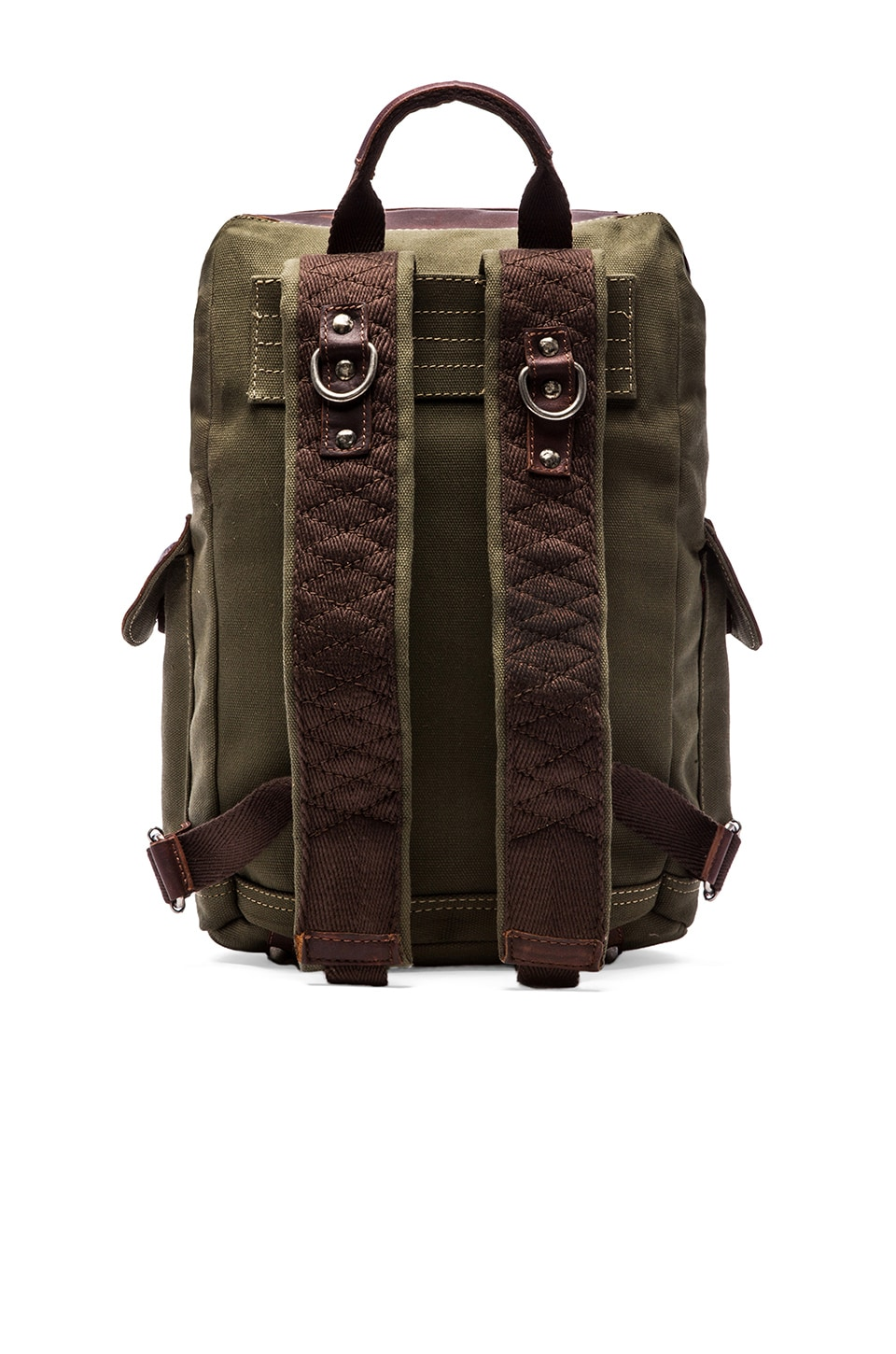 WILL Leather Goods Lennon Rucksack in Loden/Espresso