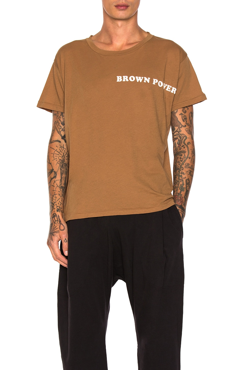 Brown Power Tee by Willy Chavarria