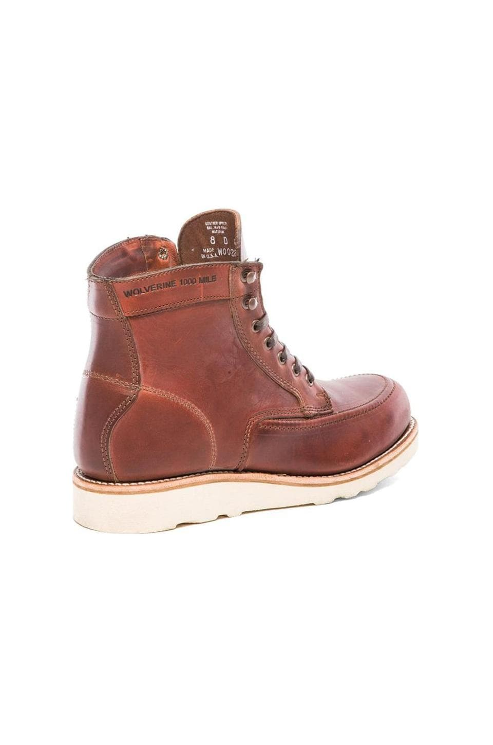 Wolverine 1000 Mile Emerson Boot in Rust