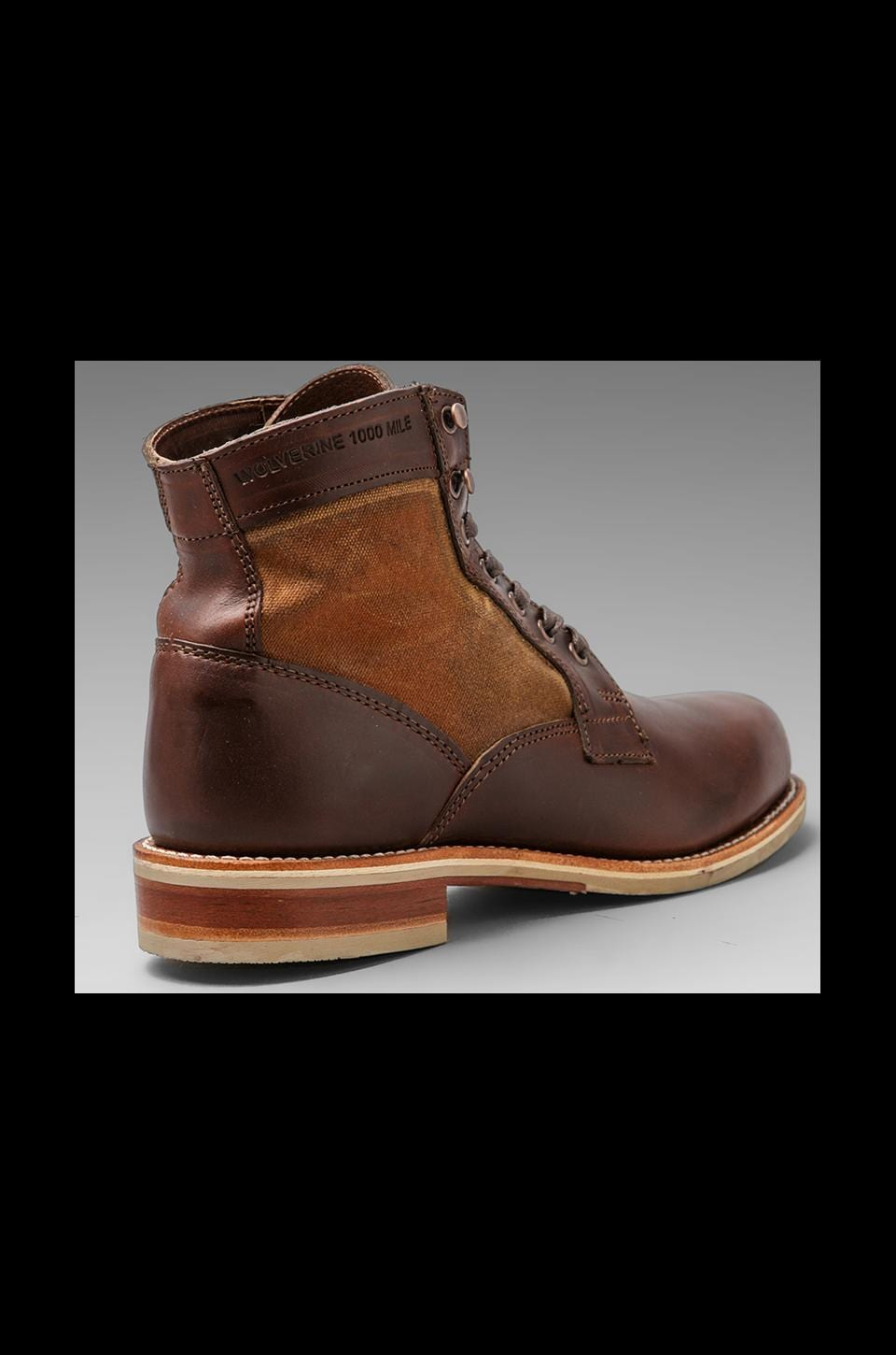 "Wolverine 6"" Leather and Canvas Boot in Brown"