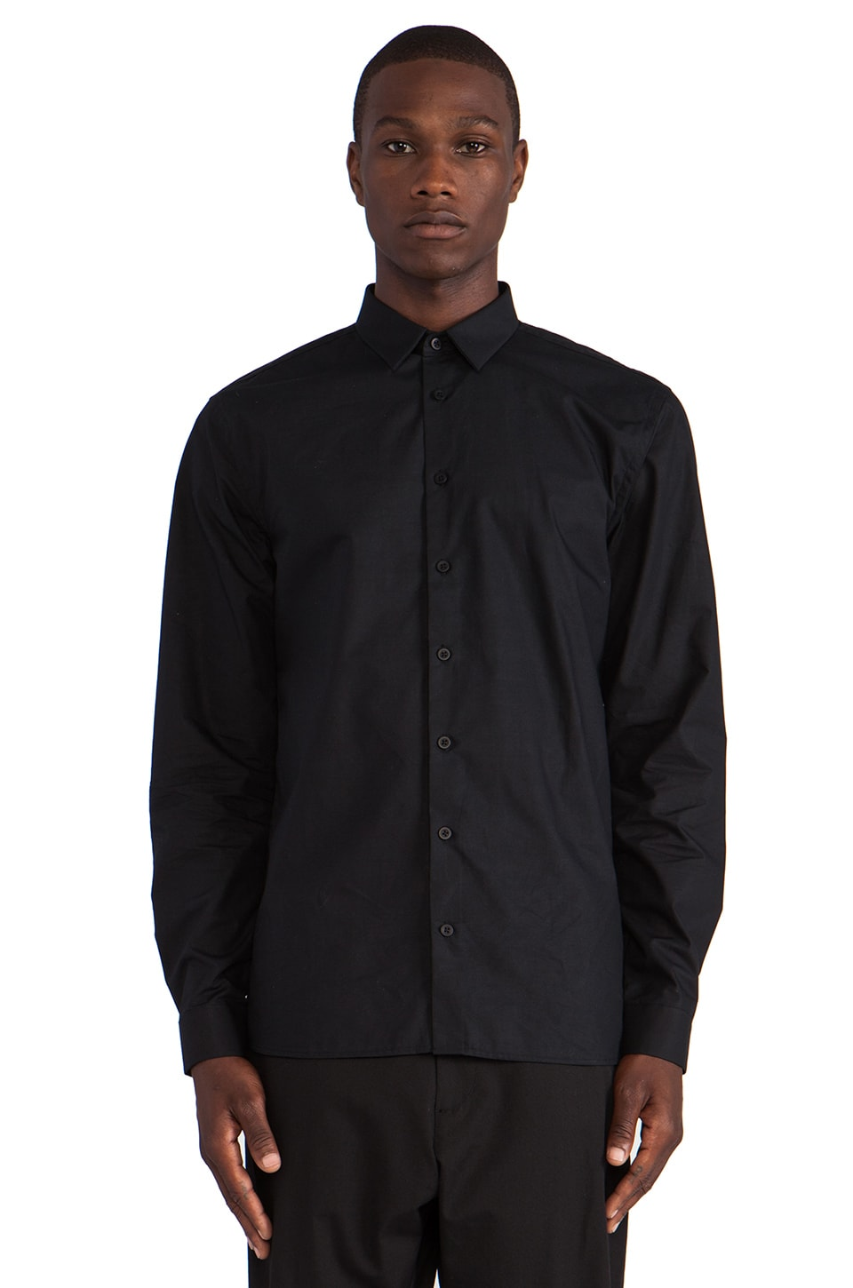 Won Hundred Moriarty Button Down in Black