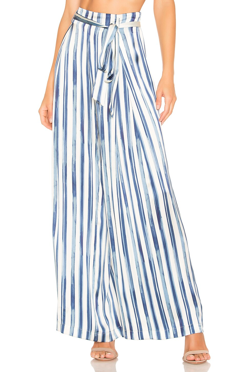 we are LEONE Luke Trouser in Painted Stripe