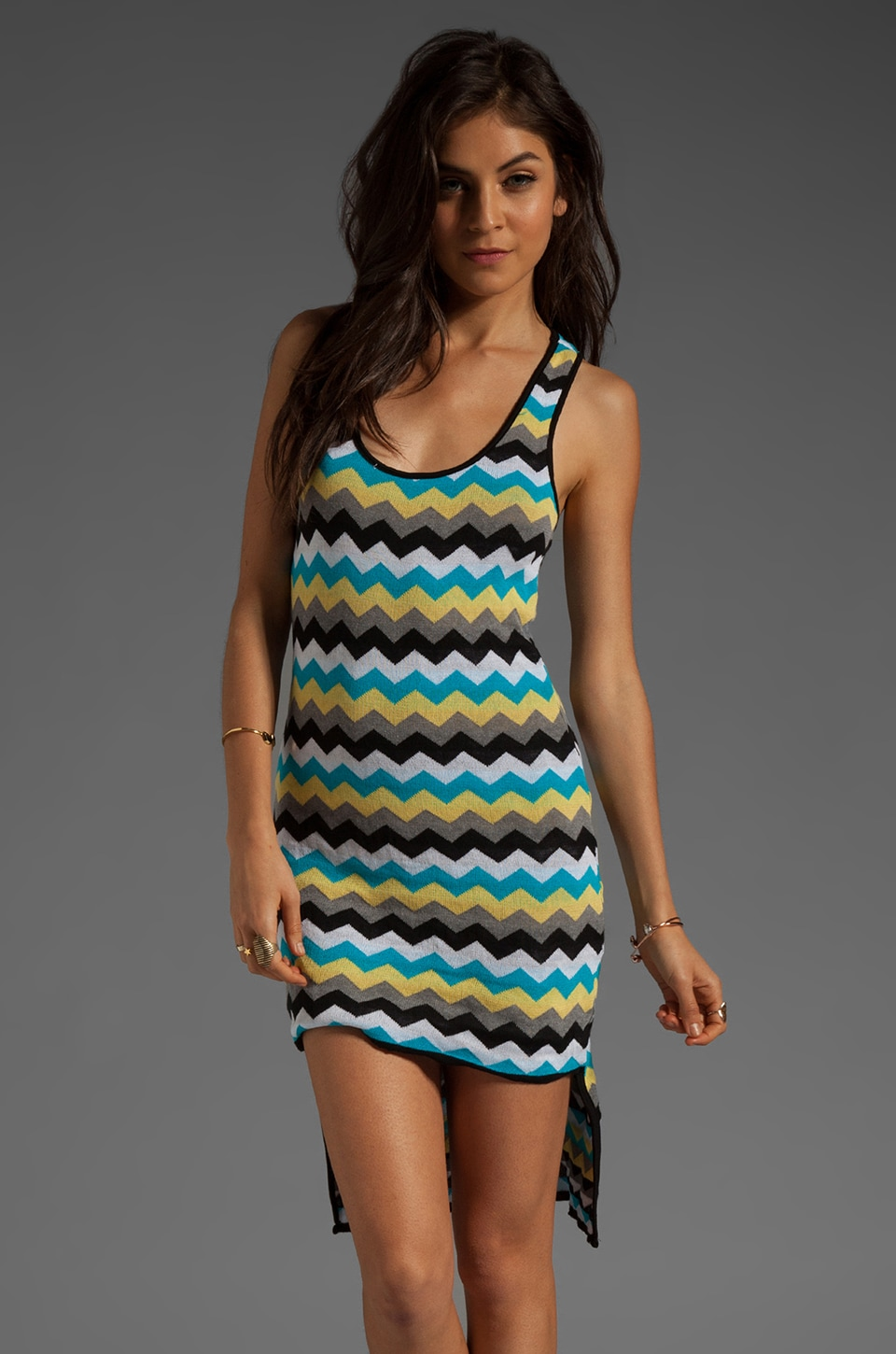 WOODLEIGH Kaiden Dress in Turquoise Stripe