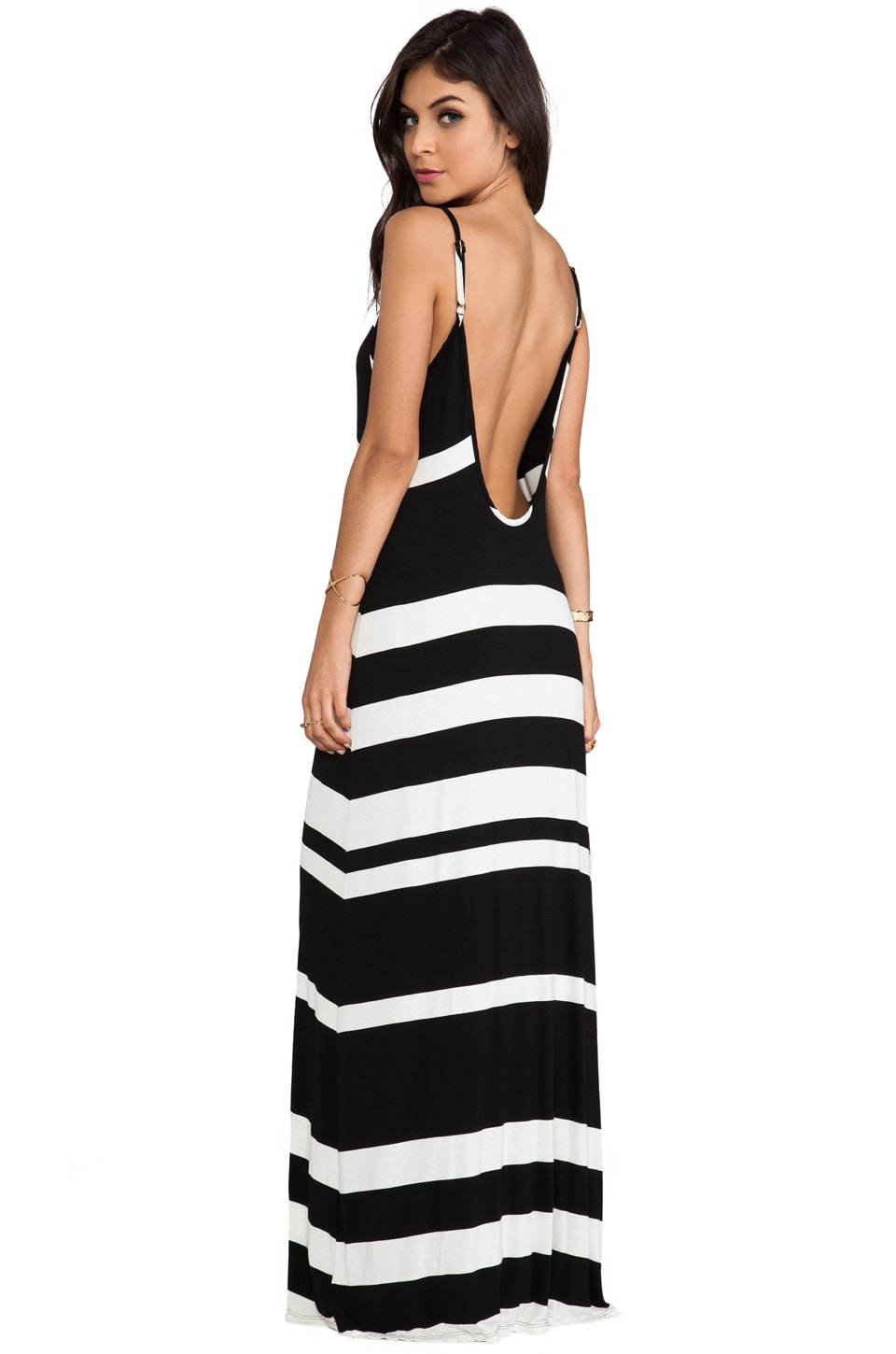 WOODLEIGH Liberity Striped Maxi in Black/White Stripe