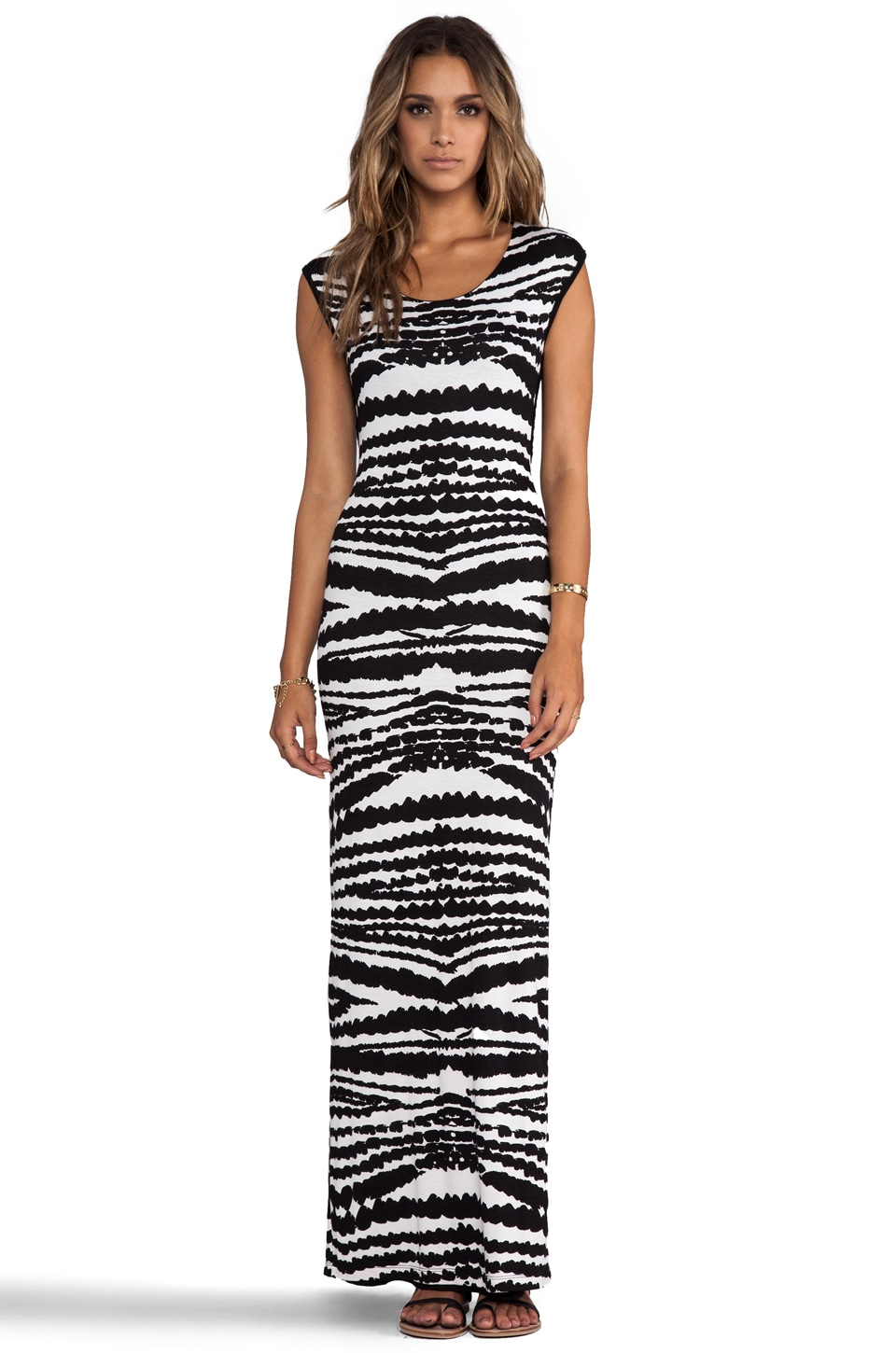 WOODLEIGH Annabelle Maxi in Black/Bone