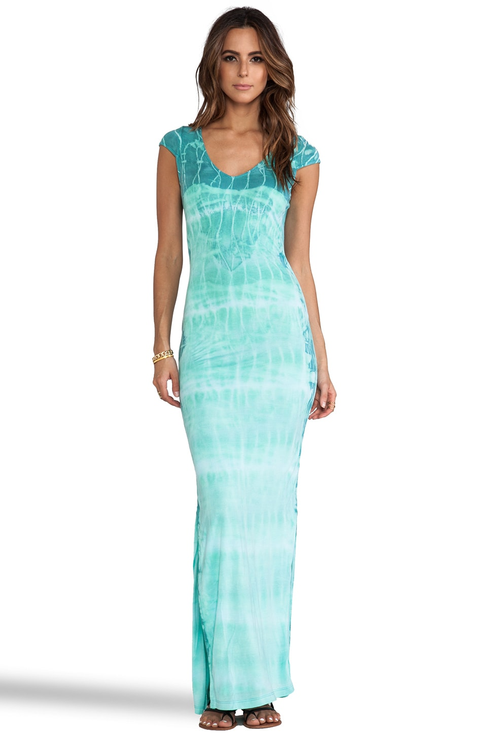 WOODLEIGH Aphrodite Tie Dye Maxi Dress in Neptune