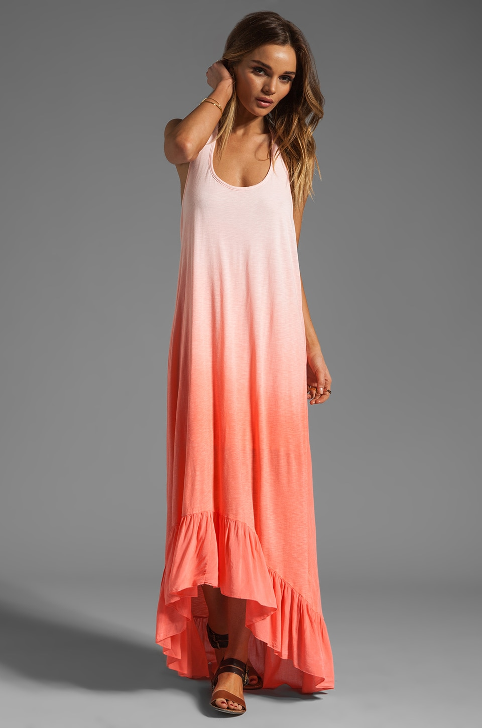 WOODLEIGH Millie Dress in Salmon