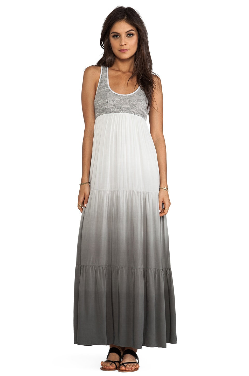 WOODLEIGH Blayke Ombre Maxi Dress in Charcoal