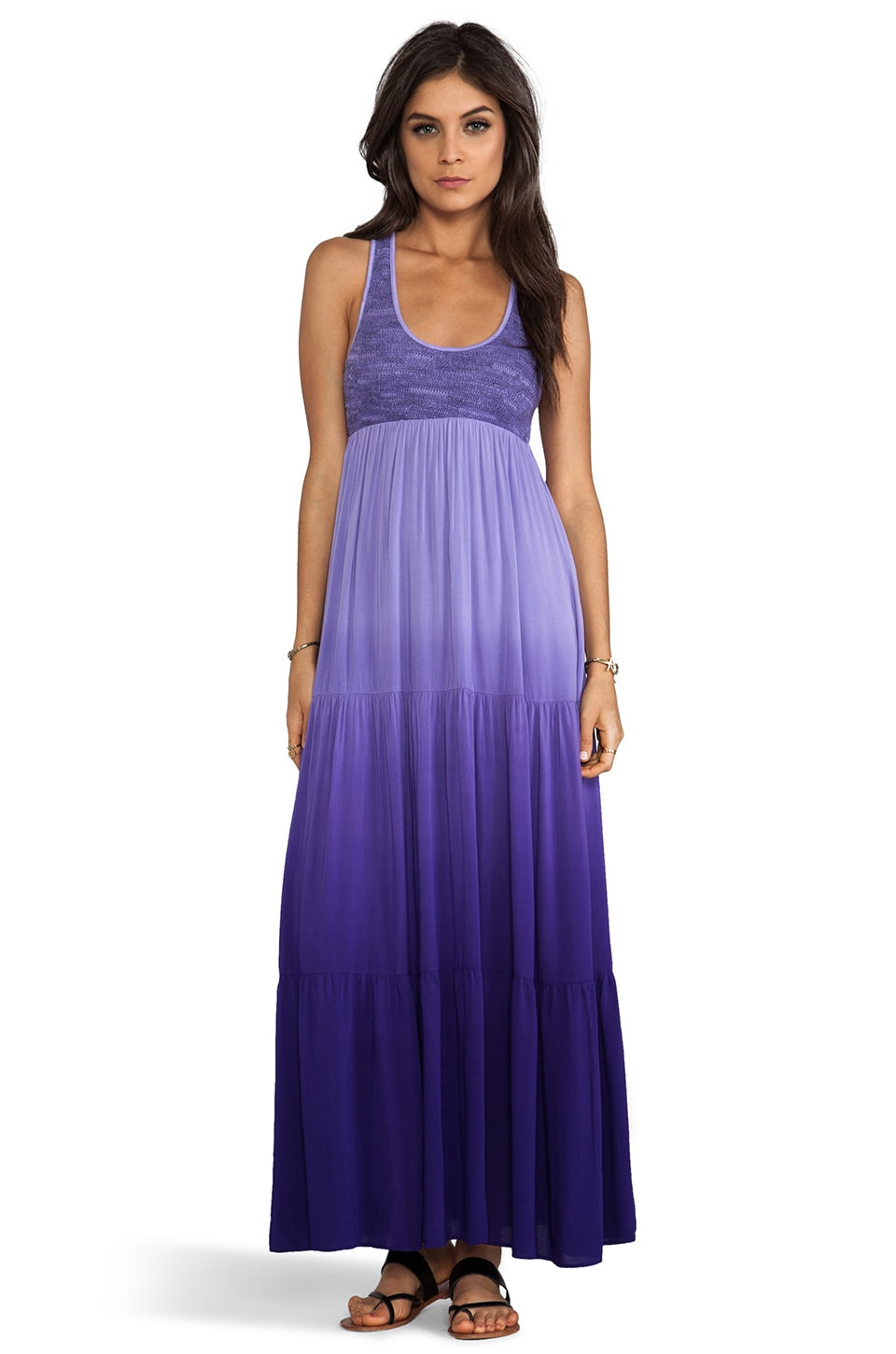 WOODLEIGH Blayke Ombre Maxi Dress in Grape