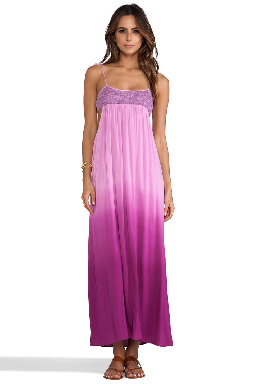 WOODLEIGH Gwen Ombre Maxi Dress in Fuchsia