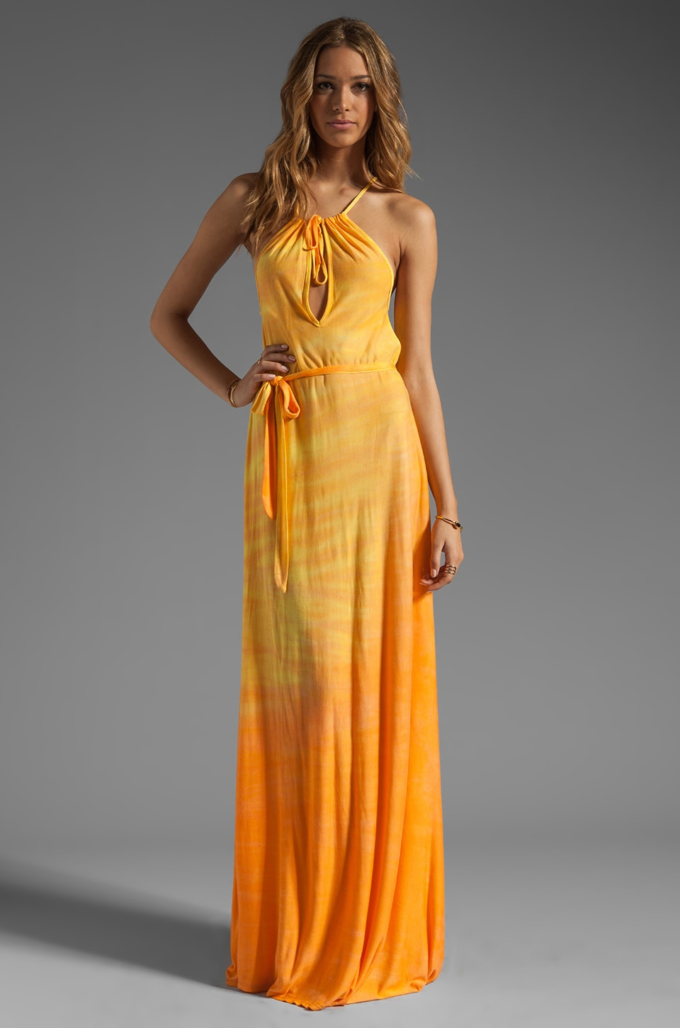 WOODLEIGH Loretta Maxi Dress in Sunset