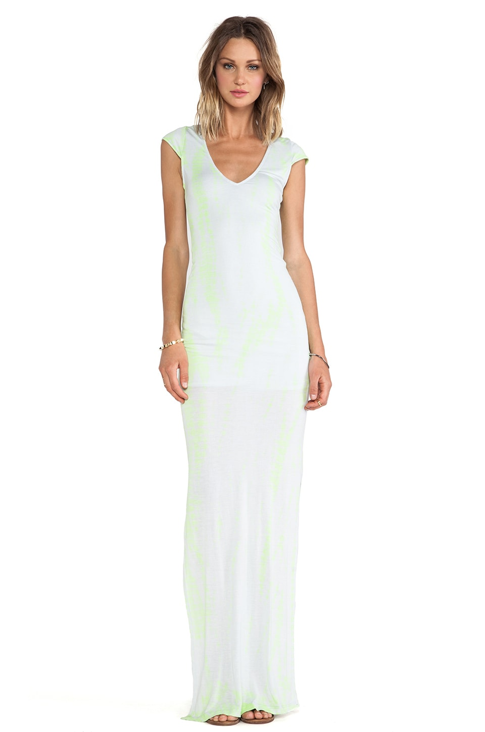 WOODLEIGH Aphrodite Maxi Dress in Neon Yellow