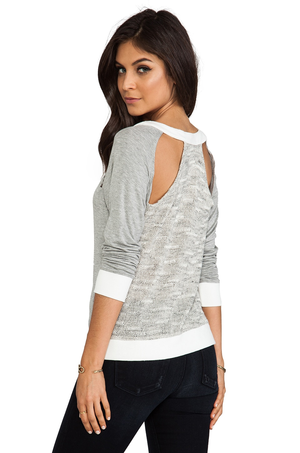WOODLEIGH Rue Top in Heather Grey