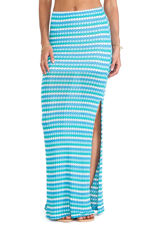 WOODLEIGH Indie Maxi Skirt in Ocean