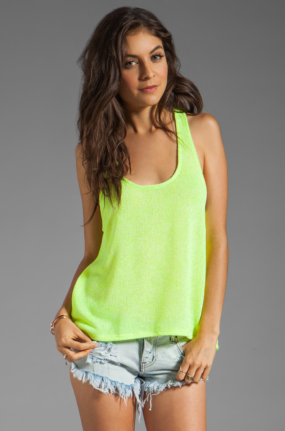 WOODLEIGH Addison Top in Neon Yellow