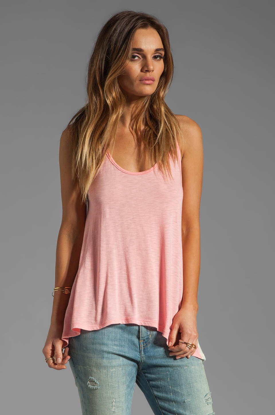 WOODLEIGH Erin Tank in Salmon