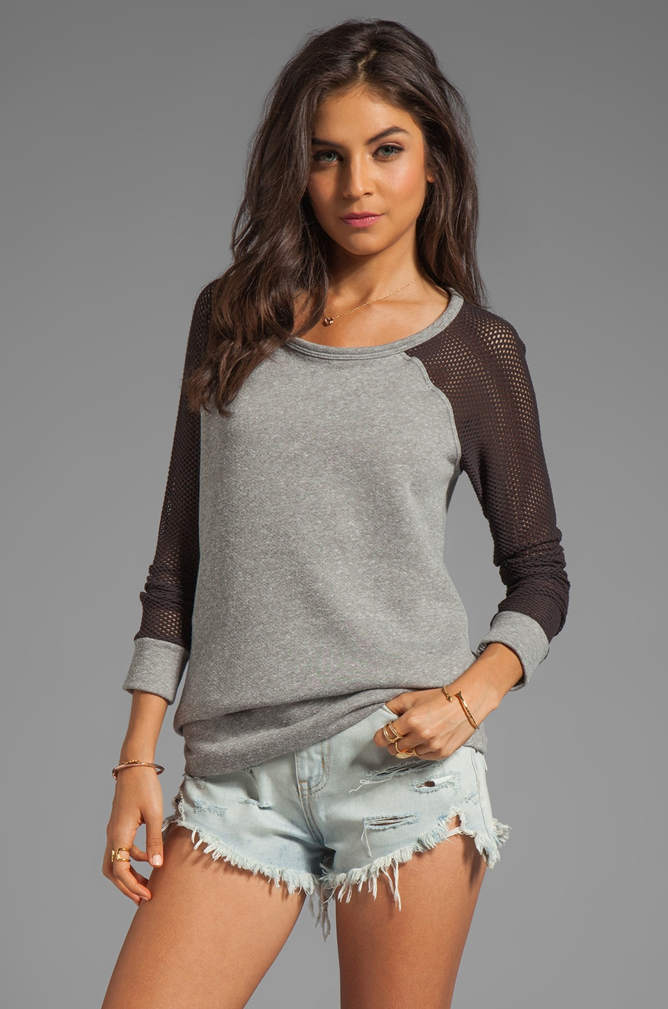 WOODLEIGH Ryder Top in Charcoal
