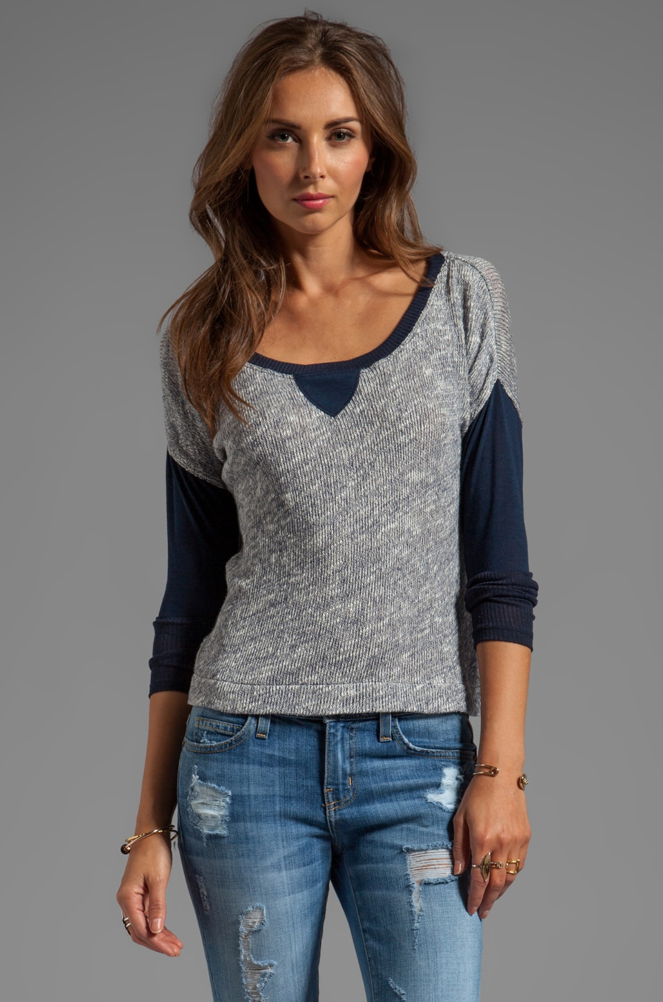 WOODLEIGH Lottie Top in Indigo
