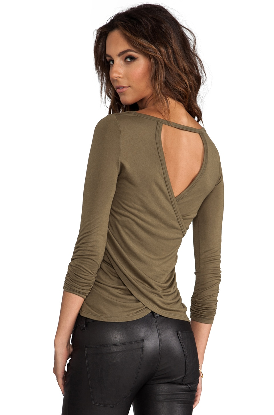 WOODLEIGH Mina Top in Khaki