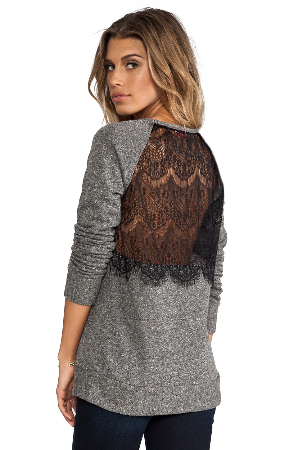 WOODLEIGH Ramona Top in Dark Heather