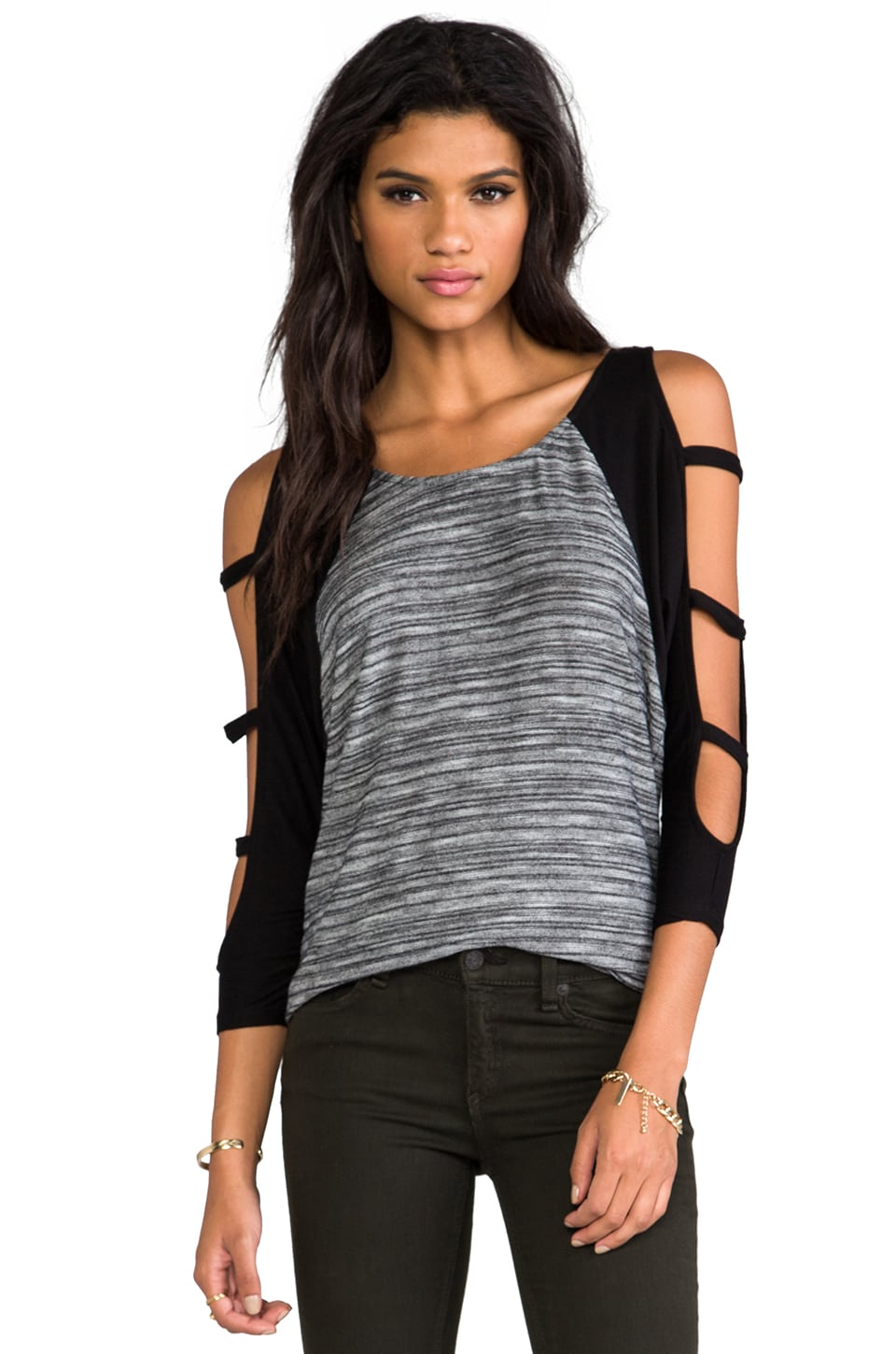 WOODLEIGH Kenedy Top in Charcoal