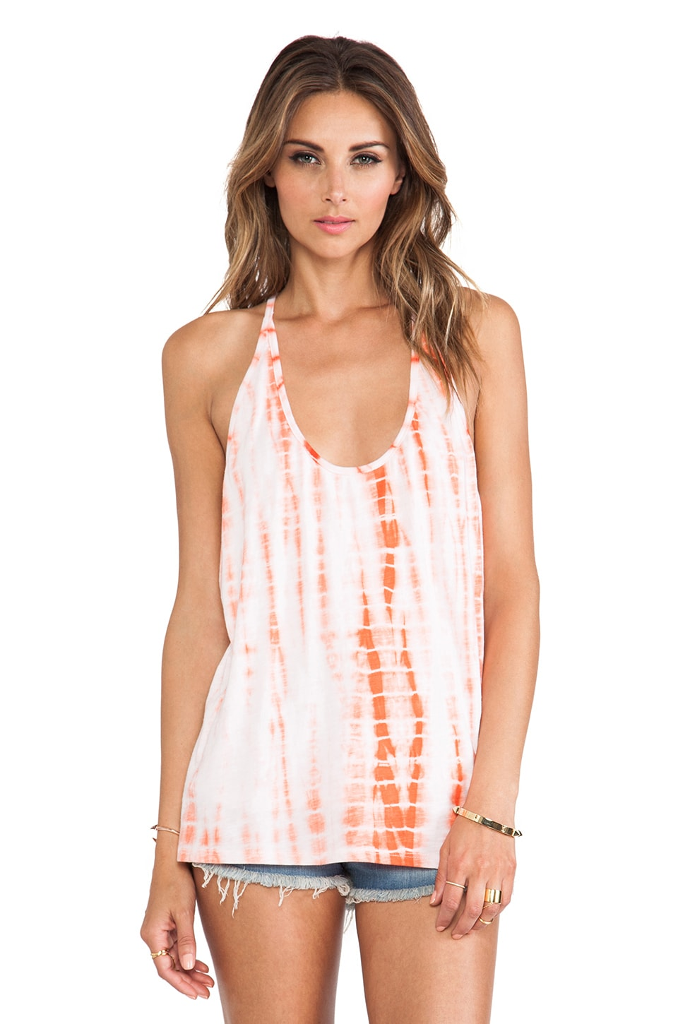 WOODLEIGH Nema Top in Bright Coral