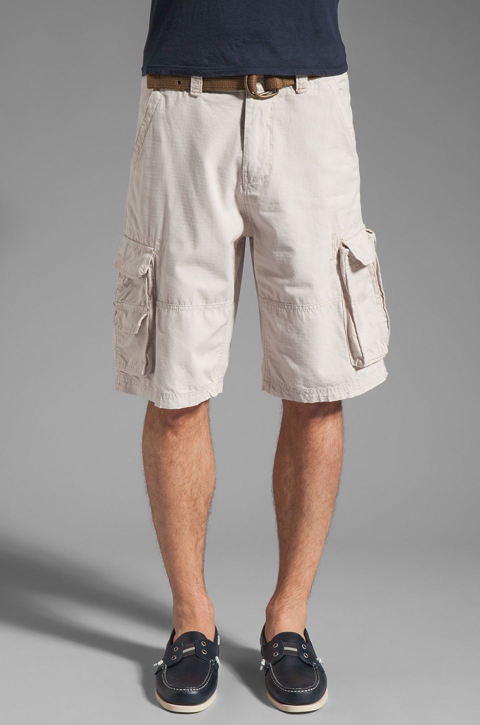 WRK Ripstop Cargo Short in Stone