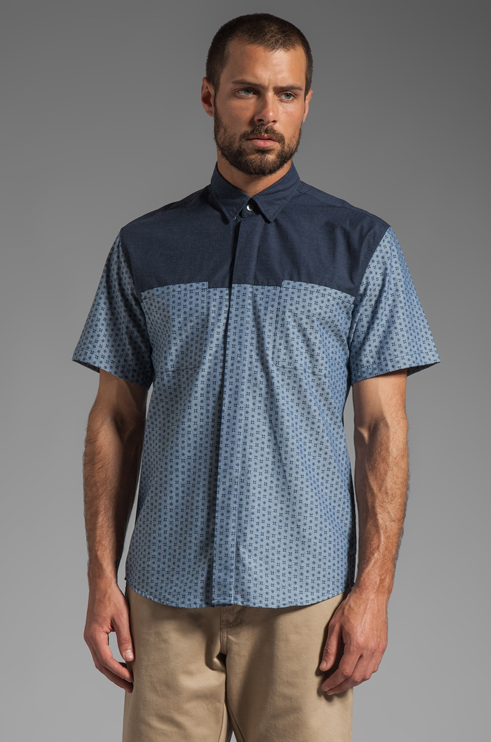 WRK Conductor Short Sleeve Shirt in Indigo