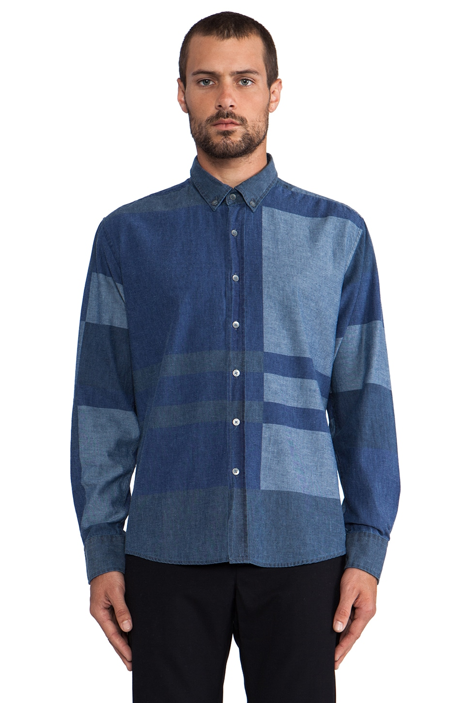WRK Portland Shirt in Blue Plaid
