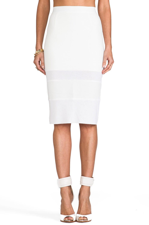 WHITE SUEDE I Like It Sheer Skirt in White