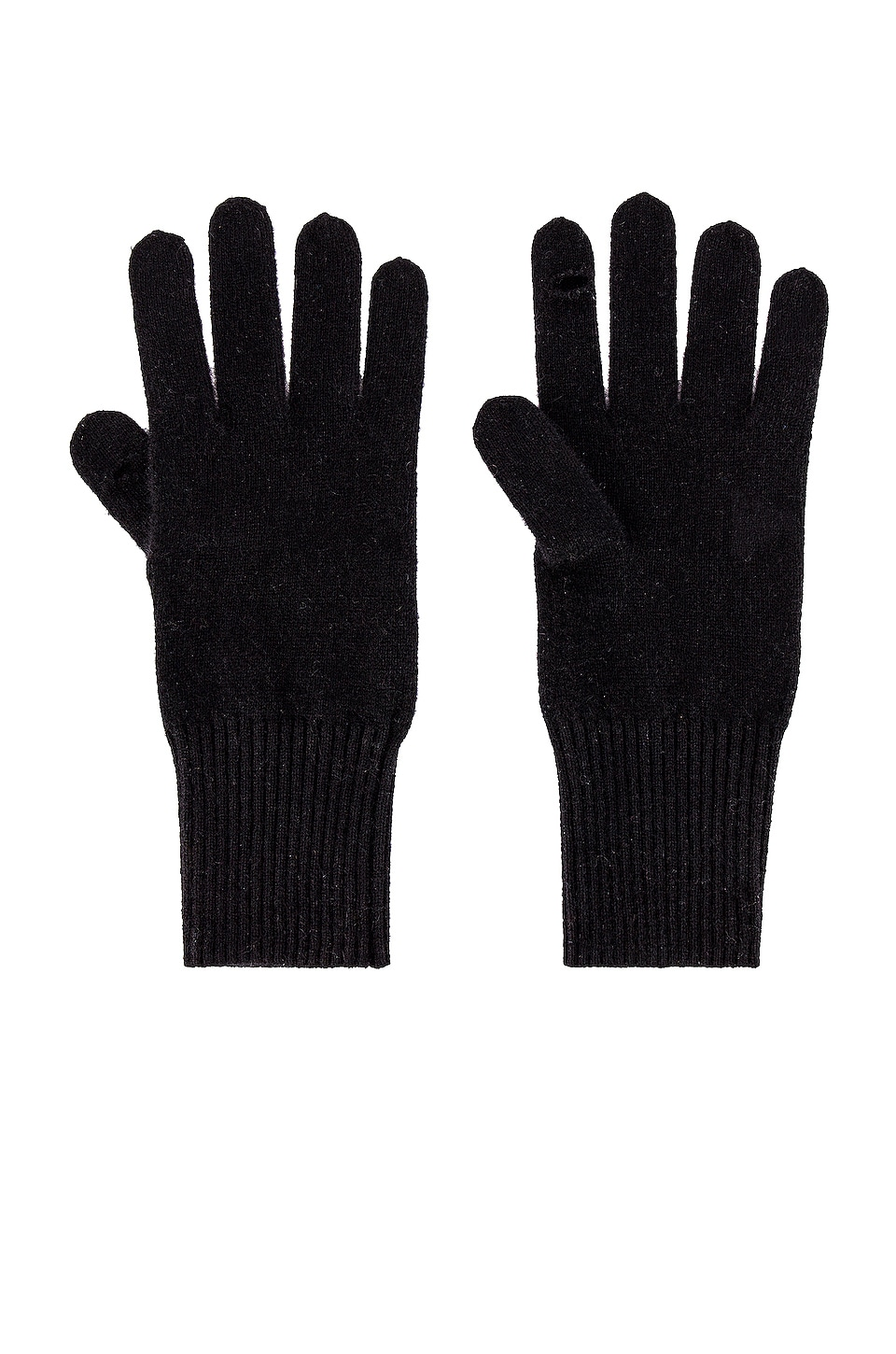 White + Warren Texting Gloves in Black