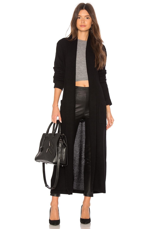 White + Warren Cashmere Luxe Robe in Black