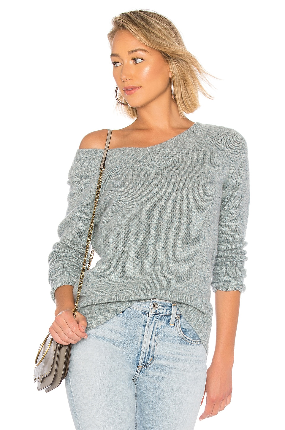 Wide Open V Neck Sweater