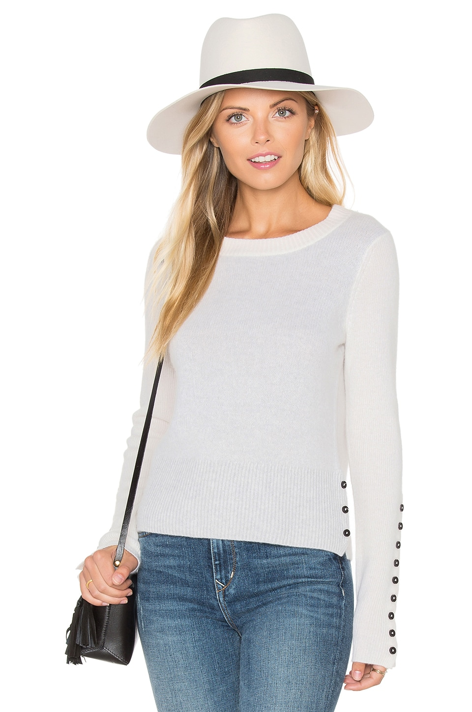 Button Crew Neck Sweater by White + Warren