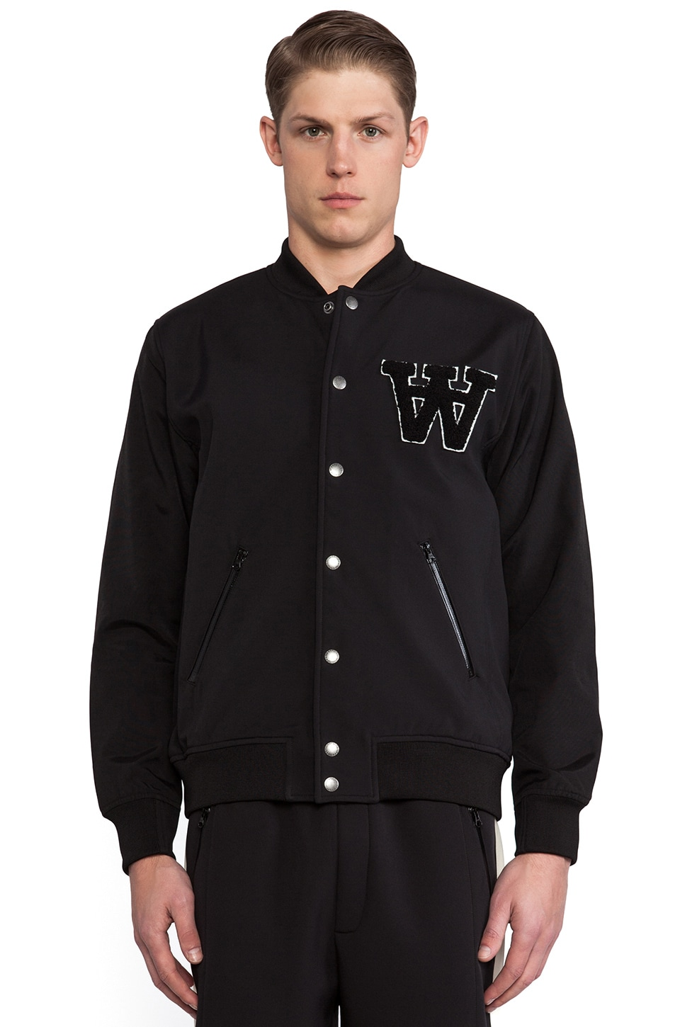Wood Wood Giles Bomber in Black