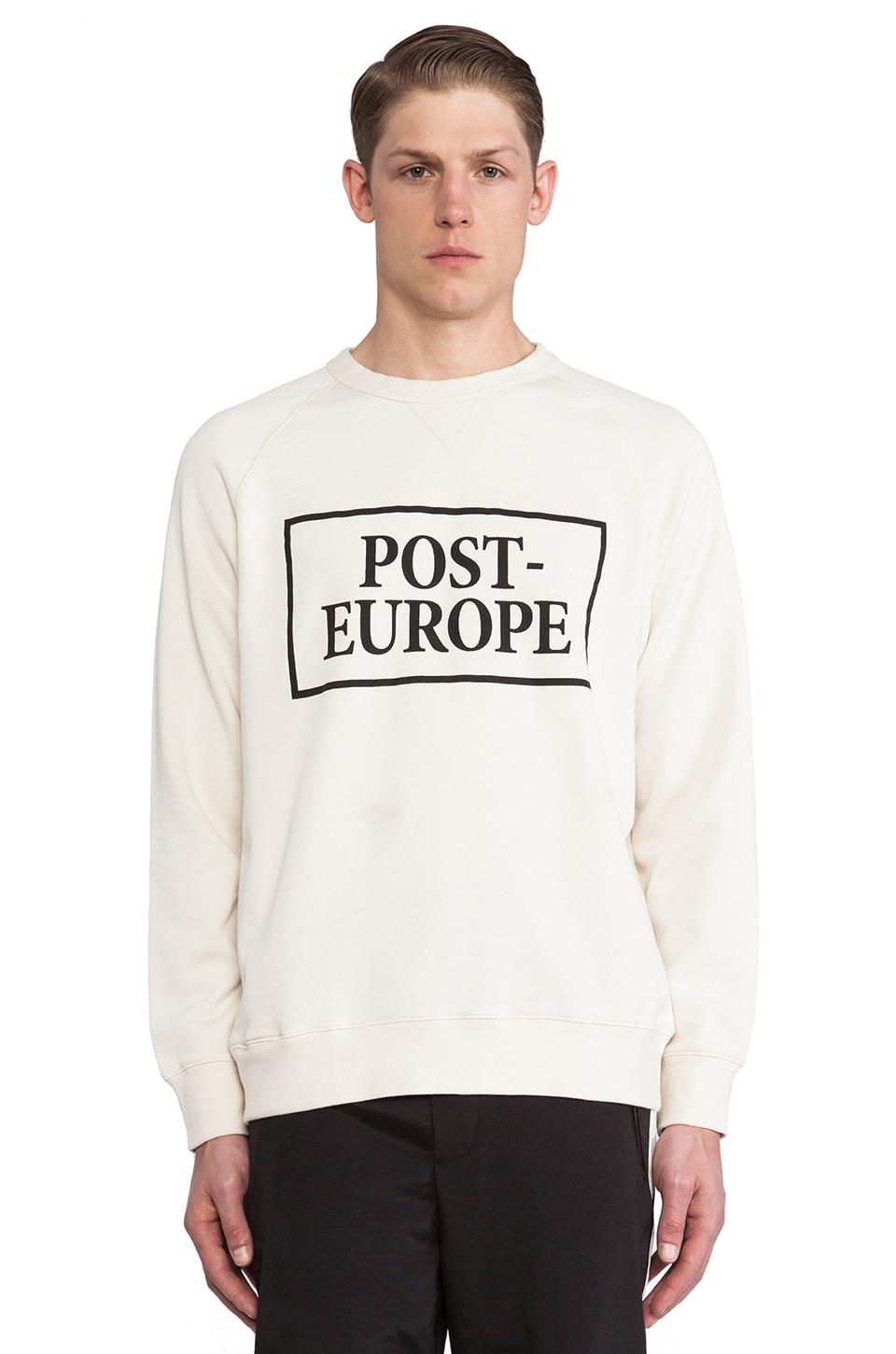 Wood Wood Post-Europe Sweatshirt in Eggnog