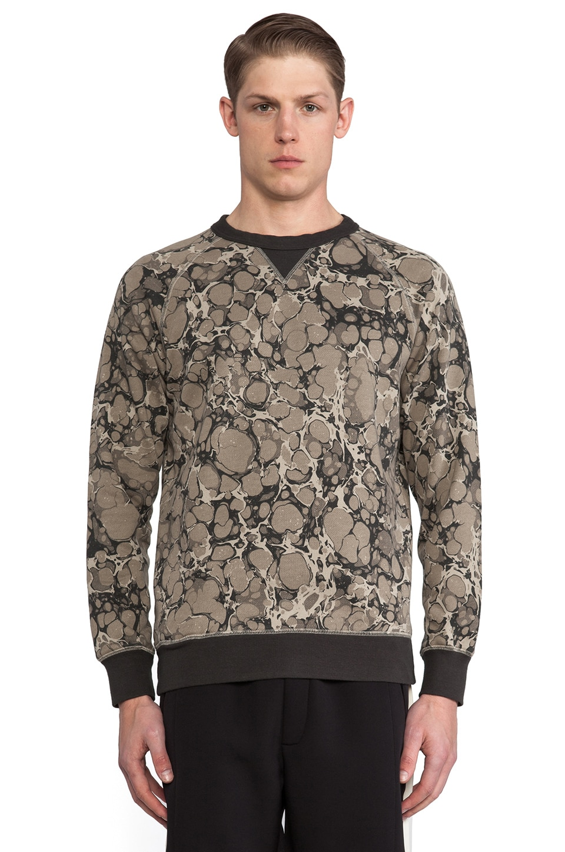 Wood Wood Marblecamo Sweatshirt in Khaki