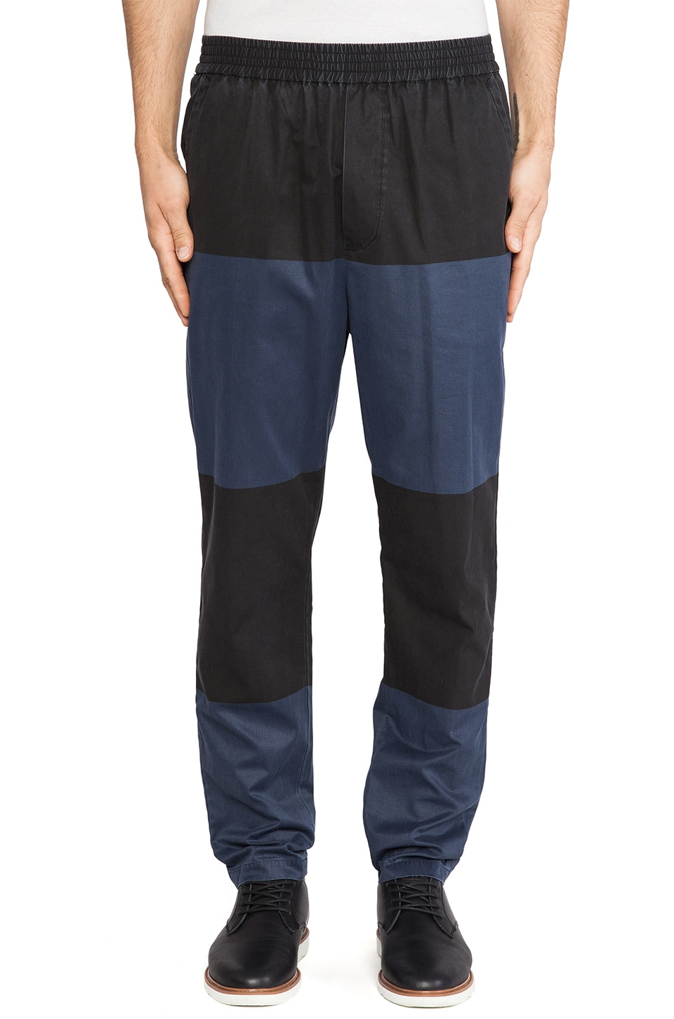 Wood Wood Lavalle Pant in Black/Blue