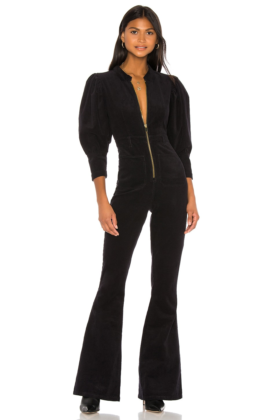 WeWoreWhat 70s Jumpsuit en Black