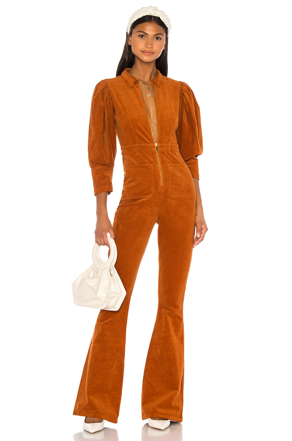 WeWoreWhat 70s Jumpsuit in Autumnal