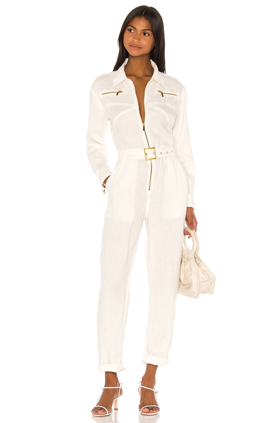 We Wore What Utility Jumpsuit in White