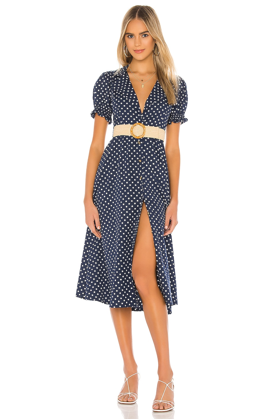 WeWoreWhat Bella Dress in Estate Blue