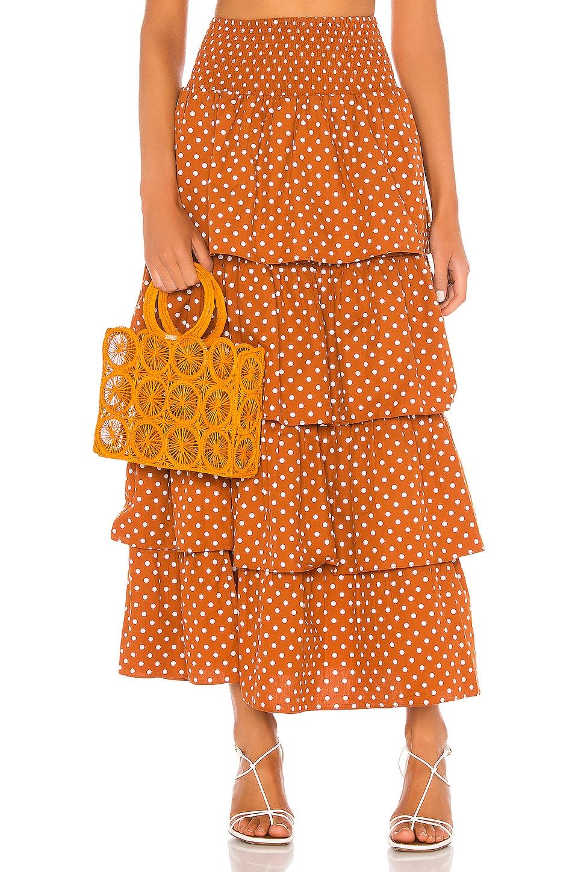 WeWoreWhat Paloma Skirt in Bran