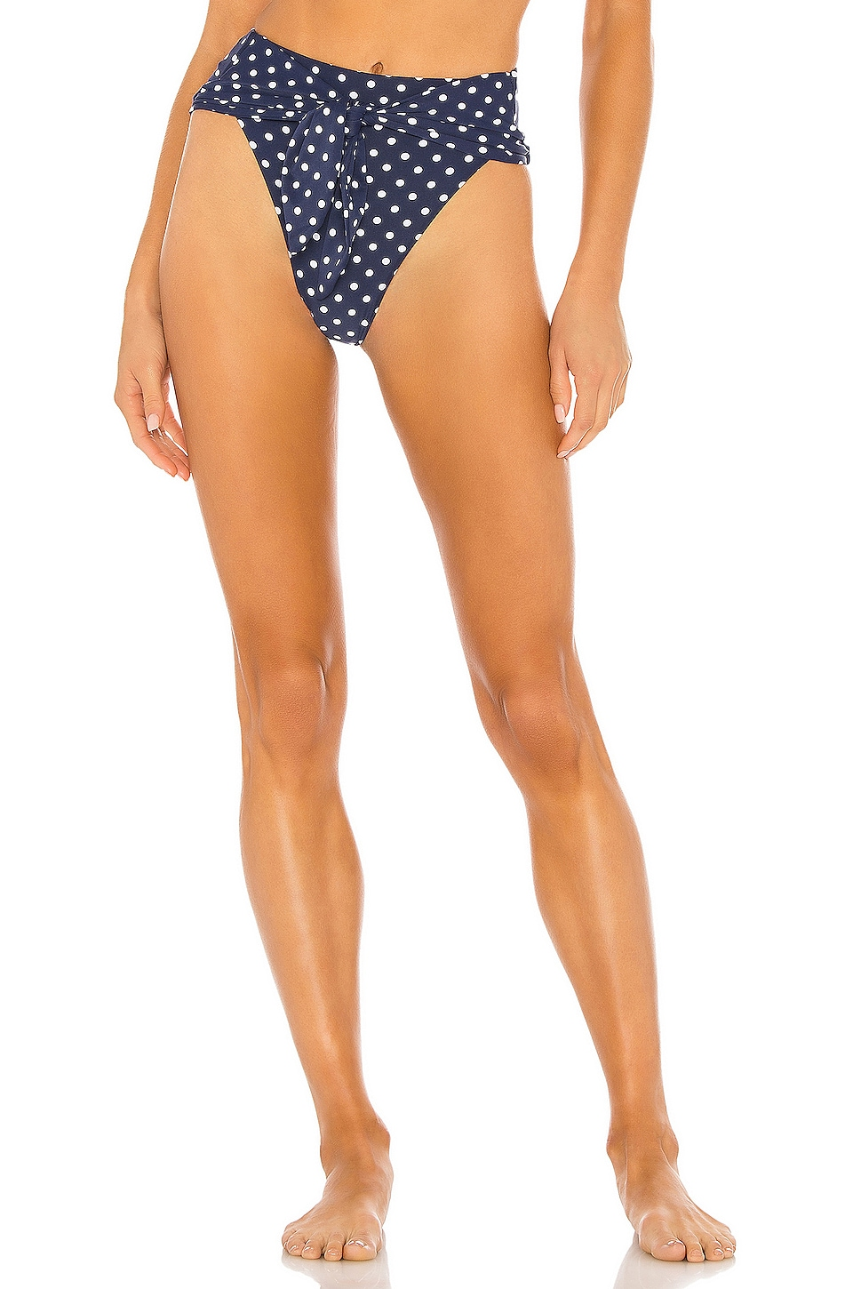 WeWoreWhat Riviera Bikini Bottom in Estate Blue