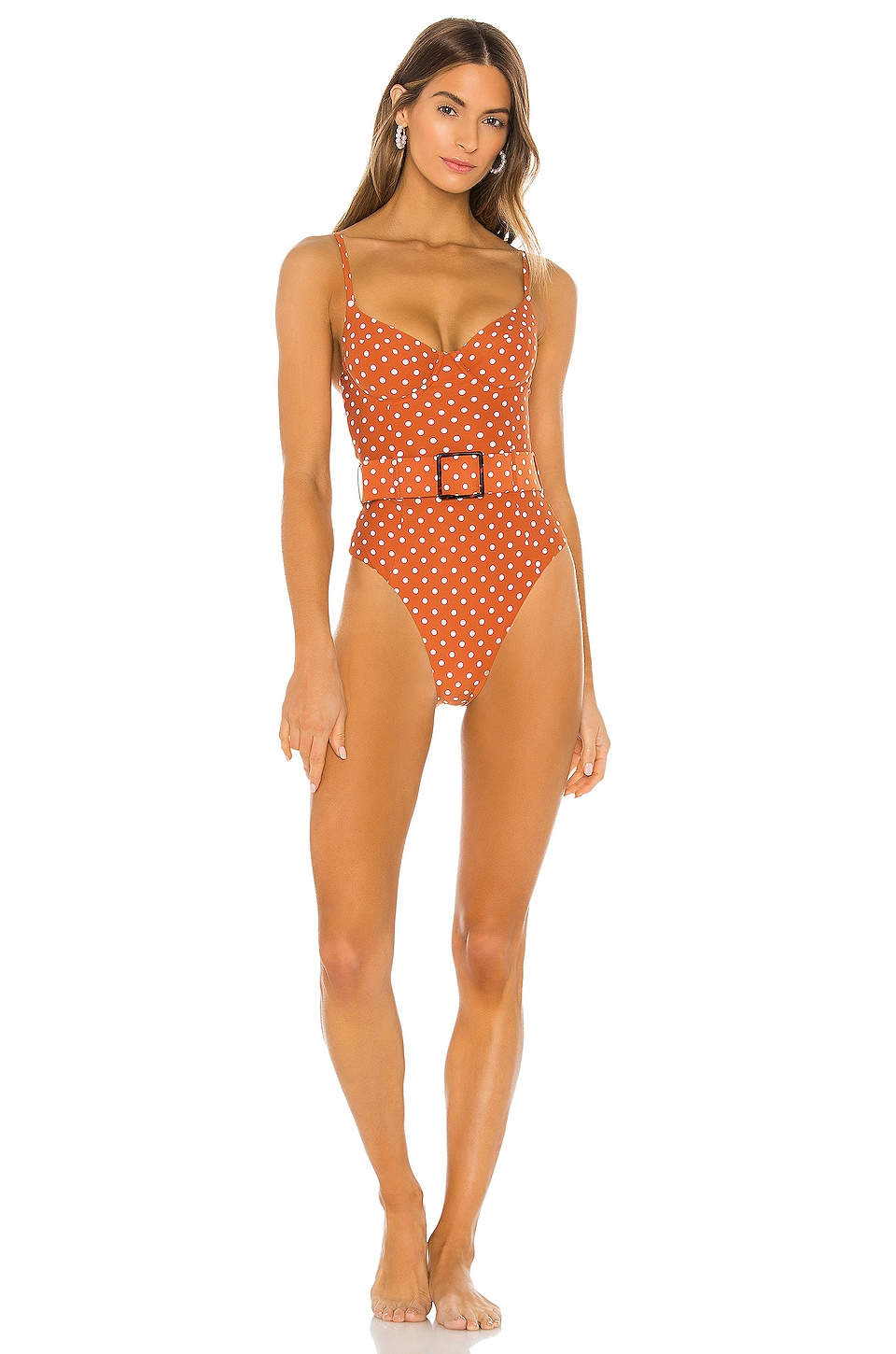 WeWoreWhat Danielle One Piece in Bran