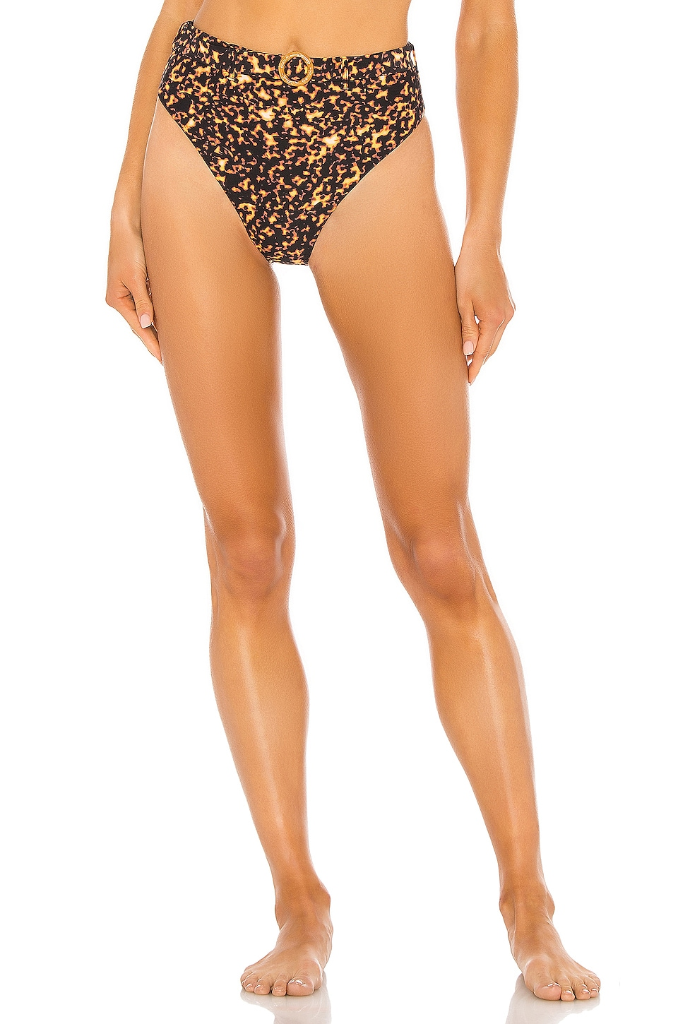 WeWoreWhat Emily Bikini Bottom in Tortoise Shell