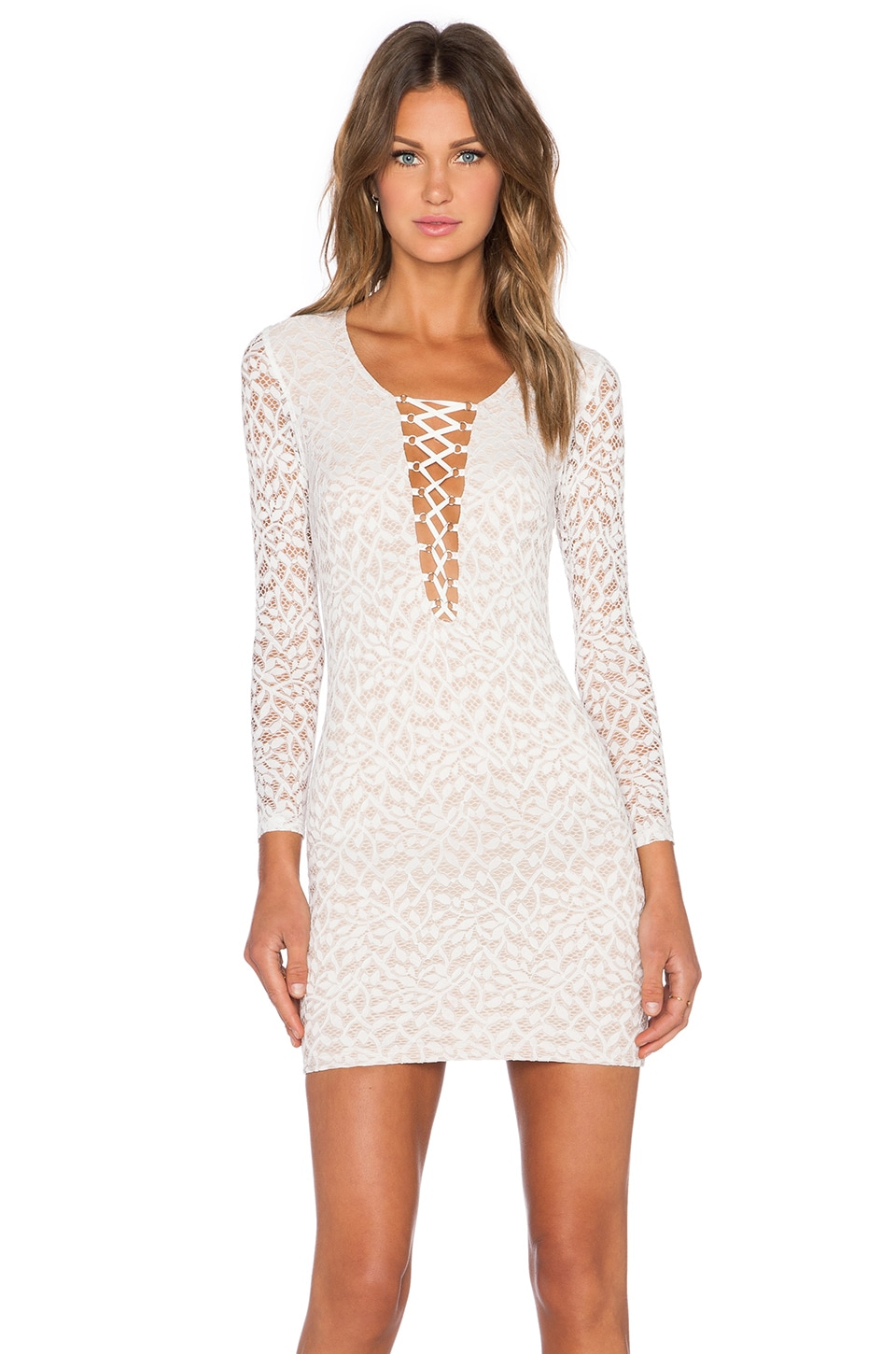 WYLDR In Too Deep Bodycon Dress in Ivory
