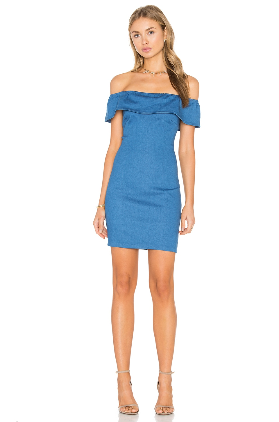 WYLDR Mailey Bodycon Dress in Blue