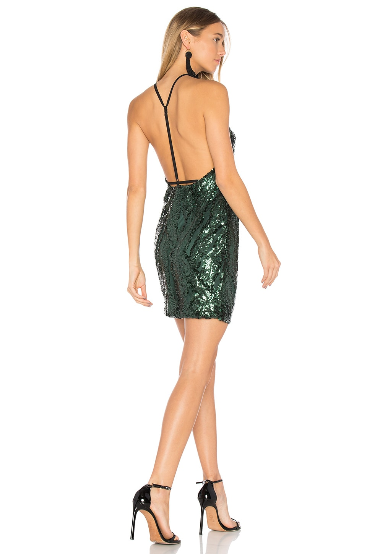 WYLDR Midnight Slip in Green Sequin