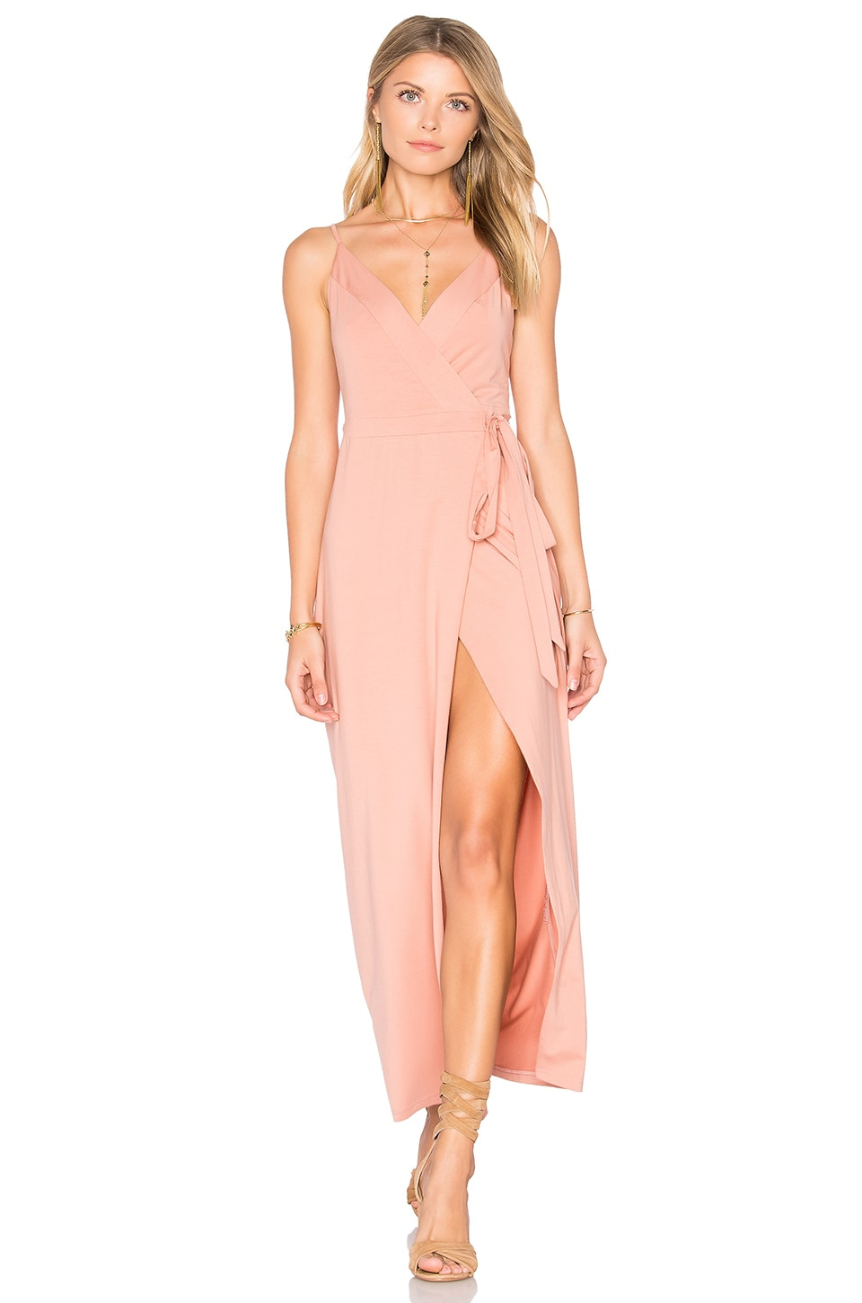 WYLDR Wrap Over Dress in Blush